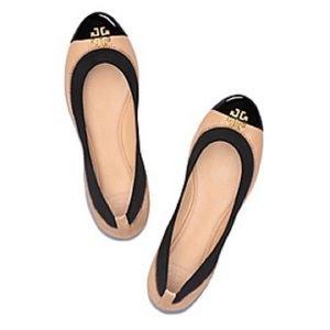 Tory Burch Beige/Black Jolie Ballet Flats